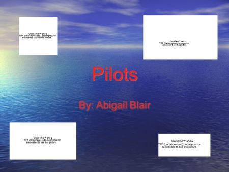 Pilots By: Abigail Blair. Table of Contents Job Description Personality College Salary Job Offers Outlook Interview Math Problem Job Description Personality.