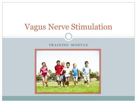 TRAINING MODULE Vagus Nerve Stimulation. What is Vagus Nerve Stimulation? Vagus nerve stimulation (VNS Therapy®) is designed to prevent seizures by sending.