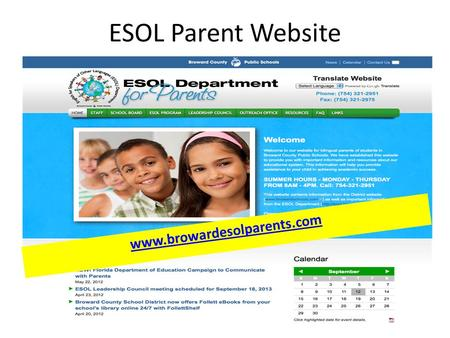 ESOL Parent Website 1 www.browardesolparents.com.
