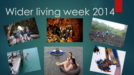 Wider living week 2014. Combat Cafe two days at an internet café 1 day at woodhil paintball 1 day at laser tag $220.