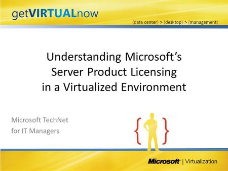 Understanding Microsoft's Server Product Licensing in a Virtualized Environment | Virtualization {data center} > {desktop} > {management} Microsoft TechNet.