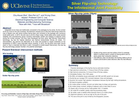 Silver Flip-chip Technology: The Infinitesimal Joint Possibility Integrated circuit chips are traditionally connected to the packages by tiny wires. As.
