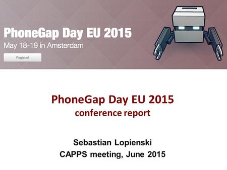 PhoneGap Day EU 2015 conference report