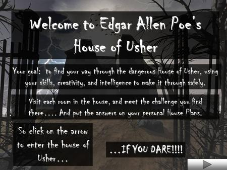 "the use of supernatural elements in edgar allan poes fall of the house of usher Evidently this is reflected in ""the fall of the house of usher "" conjointly, edgar allan poe's ""the fall of the house of usher"" properly displays elements."