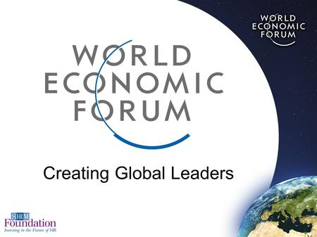 essay word changer Funded 2017 World Economic Forum (WEF) Global Leadership Fellowship Program
