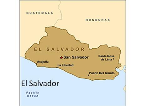 El Salvador. civil war From 1980 to 1992 75,000 Salvadorans died.