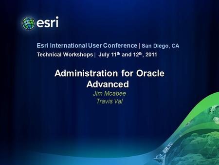Administration for Oracle Advanced