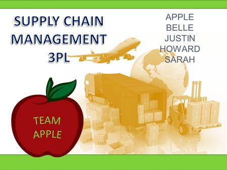 APPLE BELLE JUSTIN HOWARD SARAH. 3PLs Market Grows Rapidly U.S. 3PL Market 1996-2013E (US$ Billions) 86% of domestic Fortune 500 companies use 3PLs for.