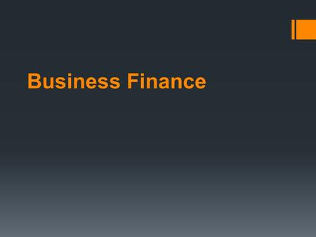 finance business