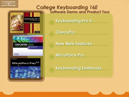 Contents. Keyboarding Pro Keyboarding Pro provides alphabetic, numeric, keypad, and skill-building instruction. This is excellent software for learning.