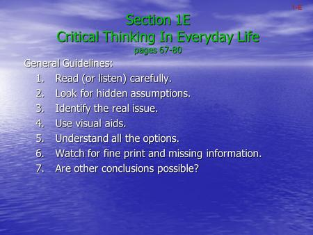 When Do We Use Critical Thinking in Everyday Life?
