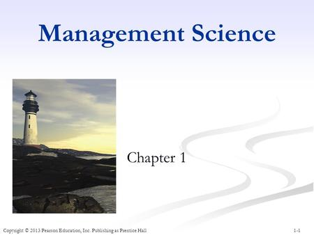 Management Science Chapter 1