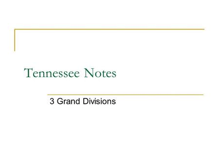 Tennessee Notes 3 Grand Divisions. Note Set Up Take white copy paper and fold like hot dog We are going to cut it into the shape of Tennessee. Make sure.