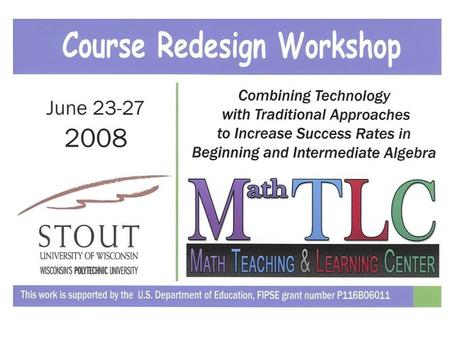Math TLC Tutor Lab Overview: All sections of Math 010 and 110 are taught in a single, dedicated, technology-enhanced classroom that is adjacent to a.