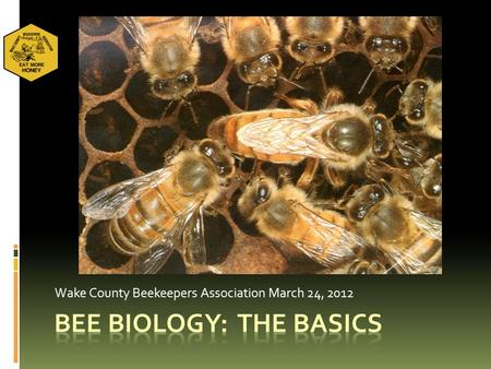 Wake County Beekeepers Association March 24, 2012.