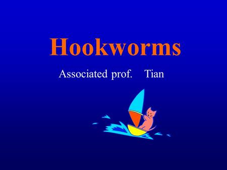Hookworms Associated prof. Tian.