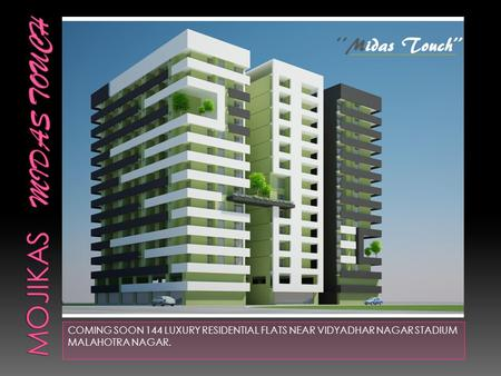 COMING SOON 144 LUXURY RESIDENTIAL FLATS NEAR VIDYADHAR NAGAR STADIUM MALAHOTRA NAGAR.
