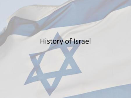 History of Israel. Abraham Abraham is known as the father of the Jews Around 1700 B.C. he was born in Ur in Mesopotamia (Along the Euphrates in modern.