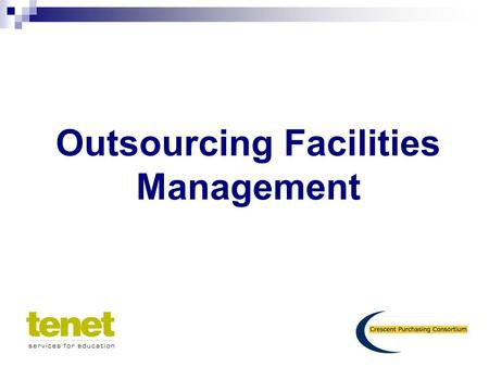 Outsourcing Facilities Management