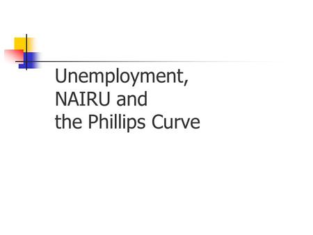 Unemployment, NAIRU and the Phillips Curve. Types of Unemployment Unemployment caused when people move from job to job and claim benefit in the meantime.