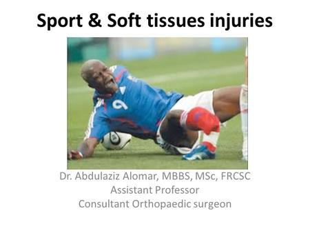 Sport injury management ppt