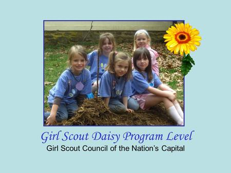 Girl Scout Council of the Nation's Capital Girl Scout Daisy Program Level.