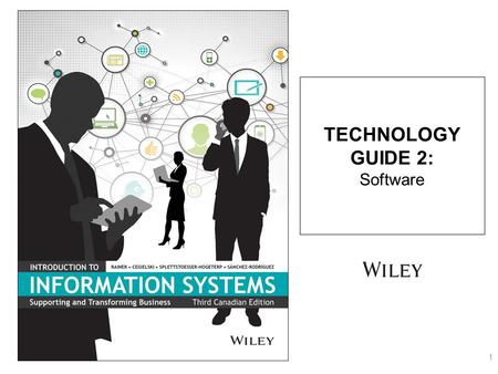 TECHNOLOGY GUIDE 2: Software 1. 2 TG2.1 Introduction to Software TG2.2 Software Issues TG2.3 Systems Software TG2.4 Application Software TECHNOLOGY GUIDE.