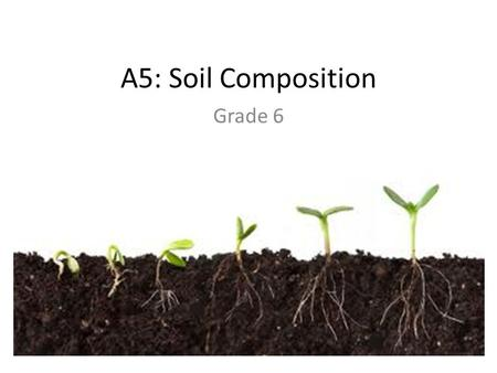 A5: Soil Composition Grade 6.