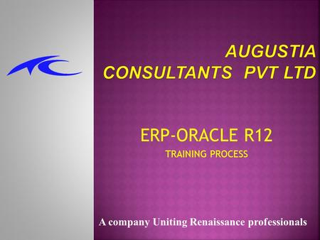 ERP-ORACLE R12 TRAINING PROCESS A company Uniting Renaissance professionals.