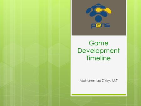 Game Development Timeline