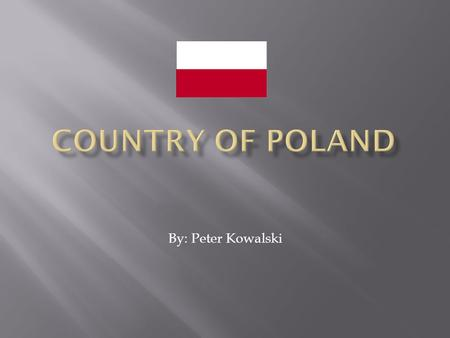 By: Peter Kowalski.  There are many ethnic groups in Poland, Polish 96.7%, German 0.4%, Belarusian 0.1%, Ukranian 0.1%, other 2.7%.  There are different.