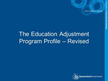 The Education Adjustment Program Profile – Revised.