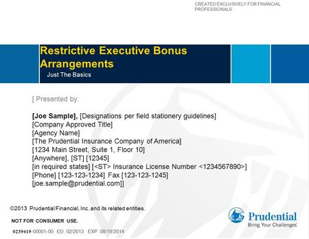 Restrictive Executive Bonus Arrangements