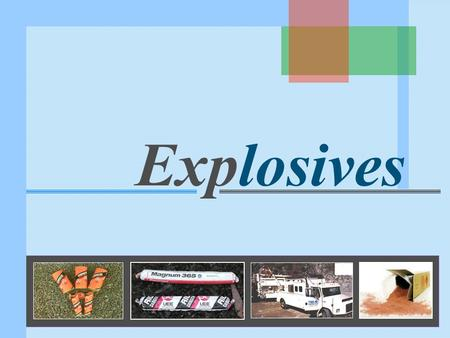 Explosives. What is an explosive? Explosive is a <strong>solid</strong> or liquid substance or a mixture of substances which on application of suitable stimulus is converted.