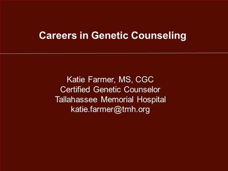 Careers in Genetic Counseling