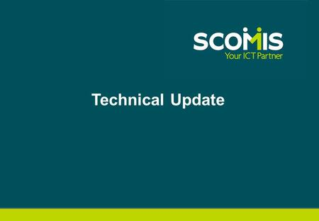 Technical Update. Agenda  Release Schedule  SIMS Technical Roadmap  SQL 2012 Migration  SOLUS3.