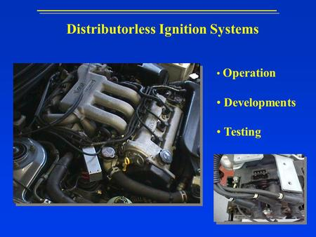 Distributorless Ignition Systems