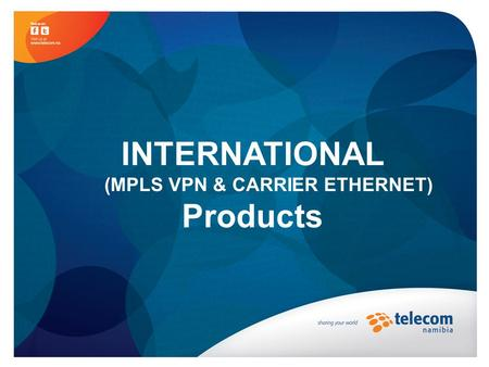 INTERNATIONAL (MPLS VPN & CARRIER ETHERNET) Products.