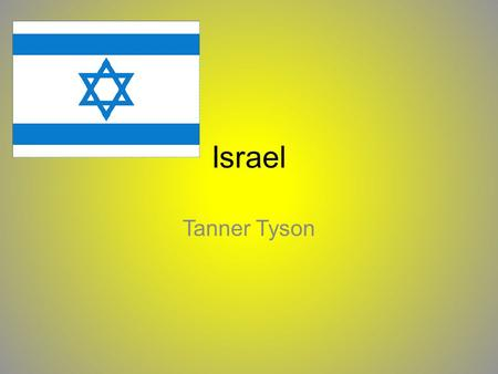 Israel Tanner Tyson. The Land Located in the Middle East Bordered by Gaza Strip, Egypt, Jordan, Lebanon, Syria, and West Bank Landforms include the Negev.