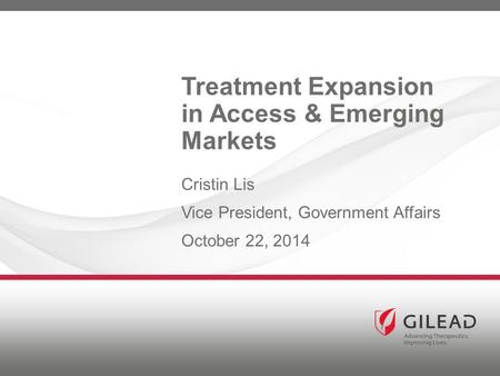 Treatment Expansion in Access & Emerging Markets