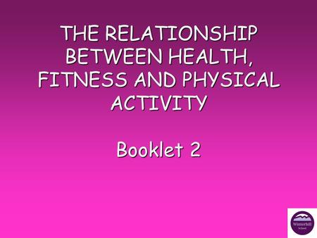 relationship between physical activity fitness and a healthy lifestyle