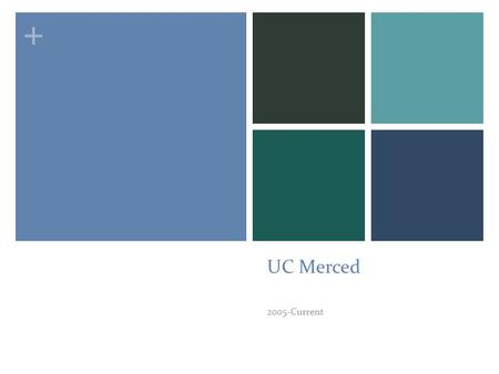 + UC Merced 2005-Current. + The University UC Merced is the first new American research university in the 21 st century, with a mission of research, teaching.