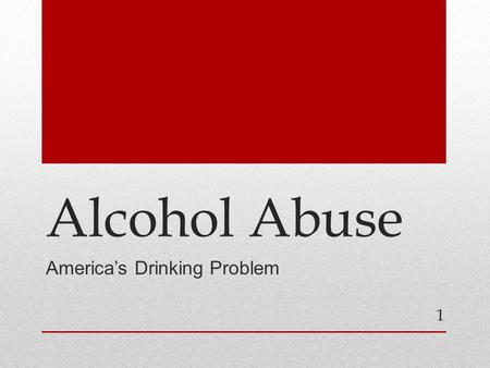 30 Percent of Americans Have Had an Alcohol-Use Disorder