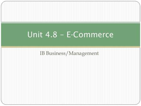IB Business/Management
