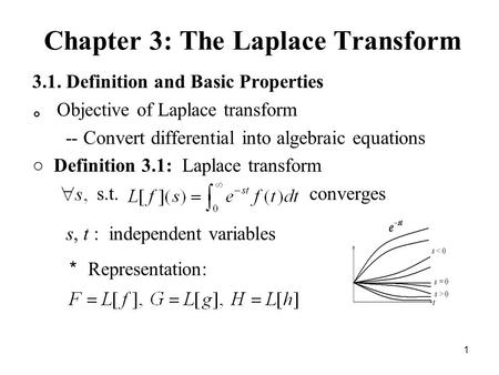 Chapter 3: The Laplace Transform