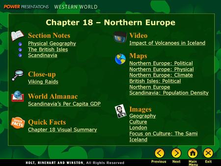Chapter 18 – Northern Europe