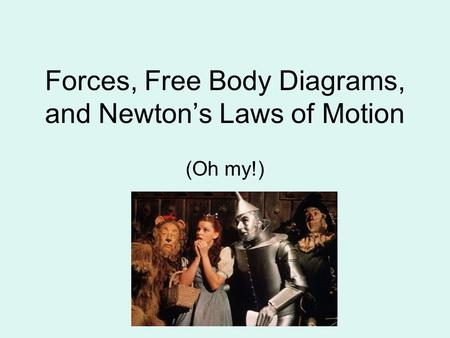 Forces, Free Body Diagrams, and Newton's Laws of Motion
