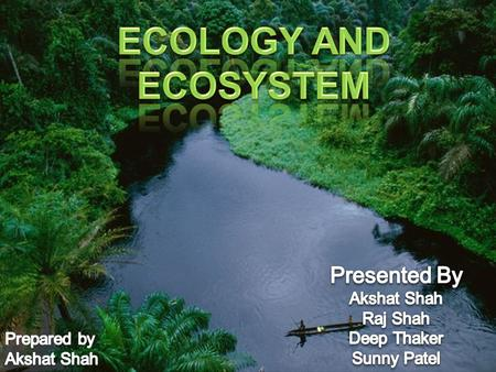What do we mean by an ecology? What do we meant by an ecosystem? Types of ecosystem. Food chains, ecological pyramid. Water,nitrogen,oxygen and carbon.