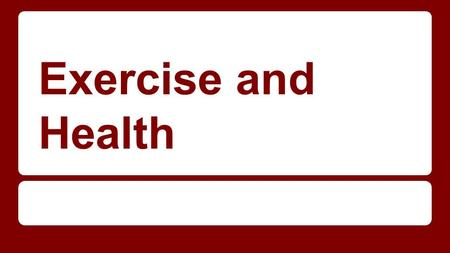 Exercise and Health. How does exercise enhance health? The exact way that exercise works to prevent the development of various chronic diseases in not.