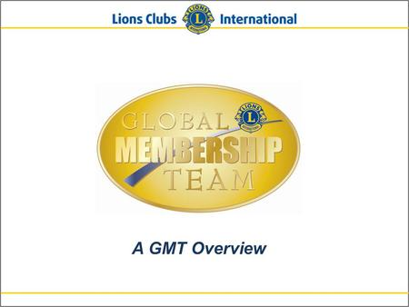 A GMT Overview. 2 Background 3 GMT – GLT Structure.